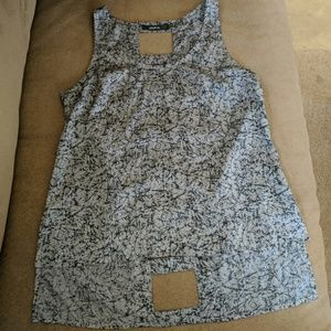 Ark & Co. Grey and Black Tank Top with Cutouts